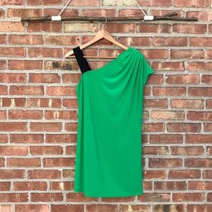 Essentials by ABS One Shoulder Green Party Dress